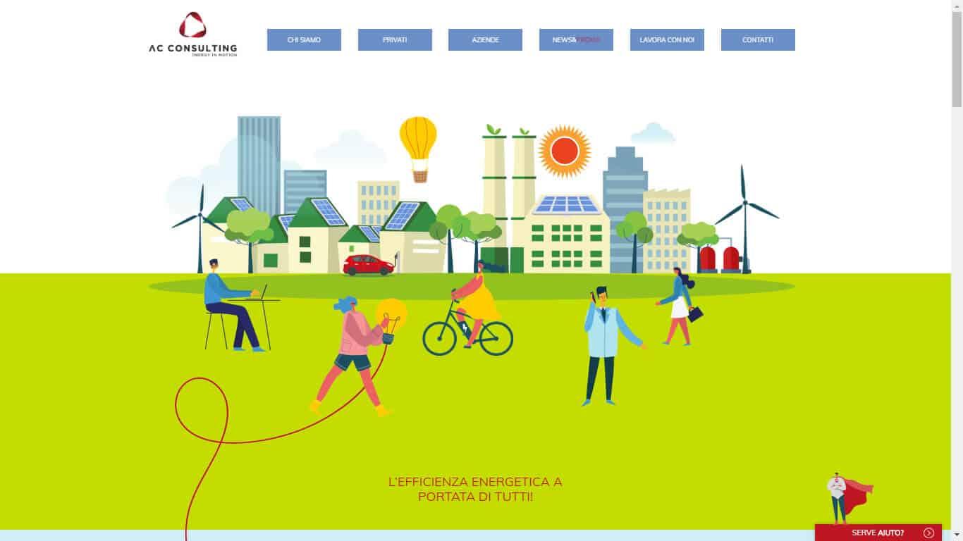 Sviluppo Sito Vetrina per Fornitore Energia 2