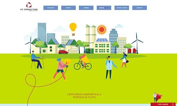 Sviluppo Sito Vetrina per Fornitore Energia