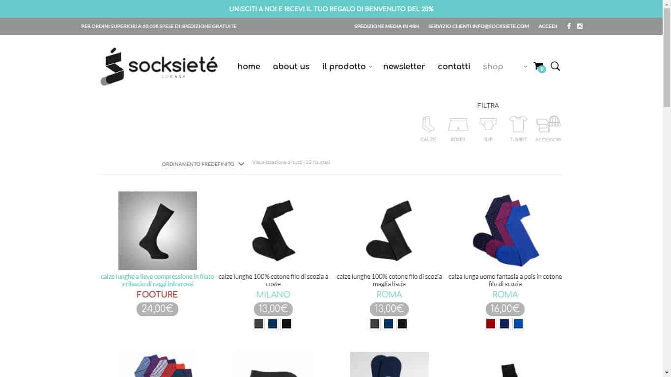 Sviluppo e-Commerce Abbigliamento Intimo 1
