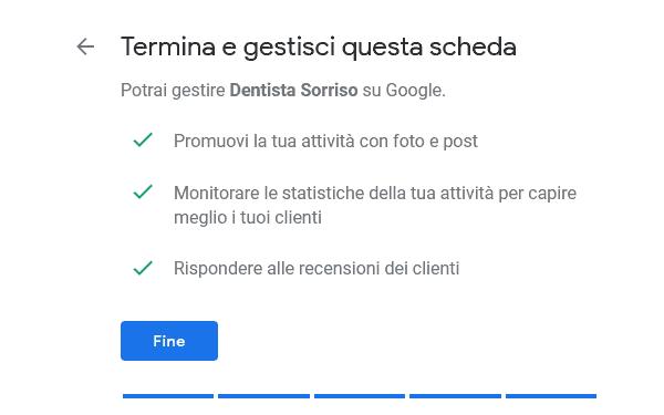 completamento scheda google my business
